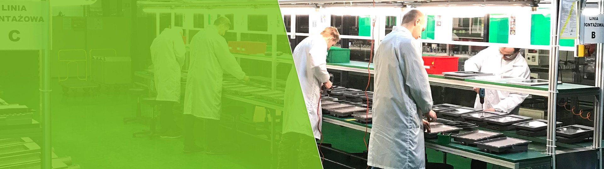Fabryka oświetlenia LED – linia montażowa