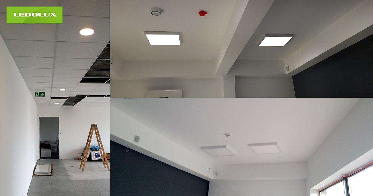 Oświetlenie biurowe realizacje producent LEDOLUX