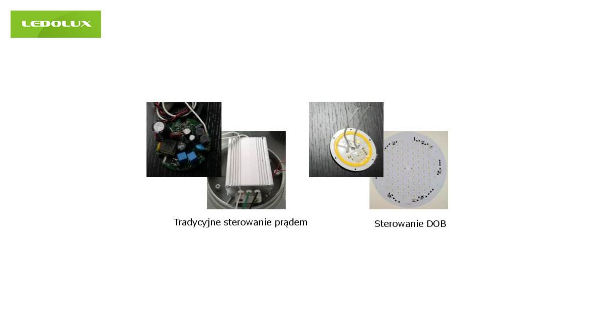 Tradycyjne sterowanie prądem a sterowanie DOB porównanie, oświetlenie przemysłowe LED