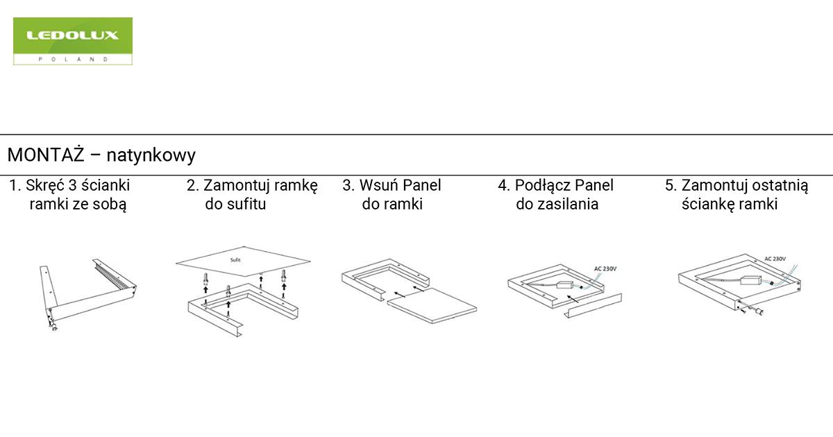 Instrukcja montażu paneli LED
