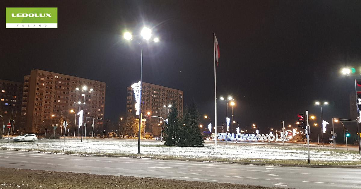Oświetlenie skrzyżowania al. Jana Pawła II i ul. Komisji Edukacji Narodowej w Stalowej Woli