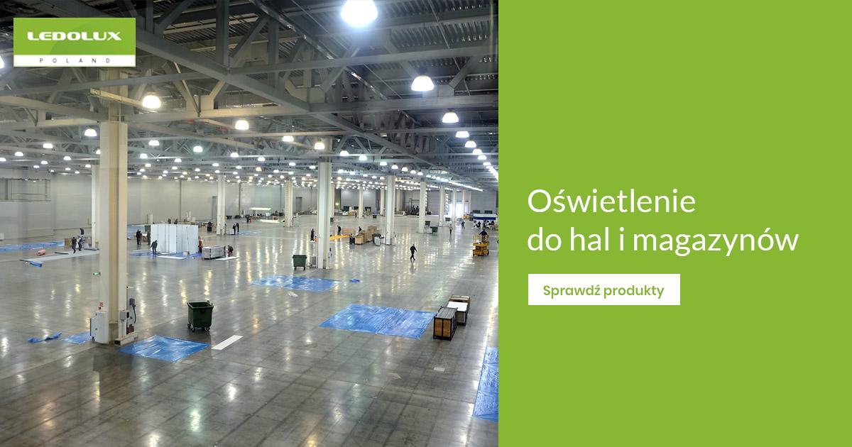 Oświetlenie LED w hali przemysłowej