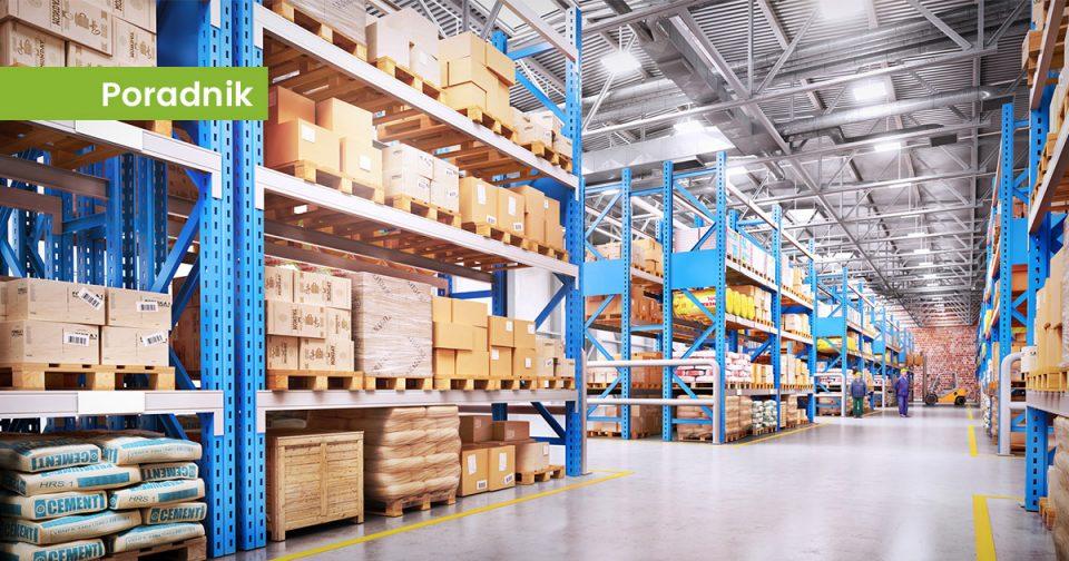 Oświetlenie przemysłowe LED w magazynie